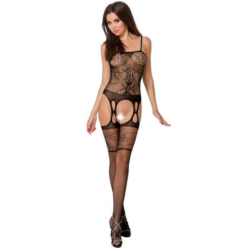 Bodystocking Passion Woman BS050 negro talla unica
