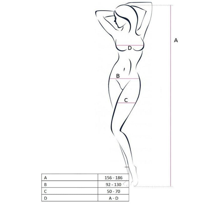 Bodystocking Passion Woman BS062 blanco talla unica