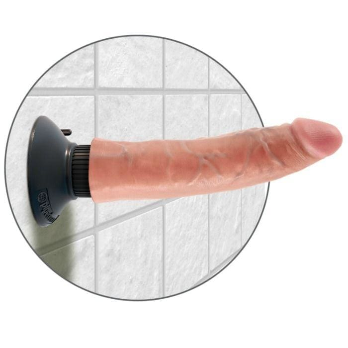Dildo Vibrador King Cock 17.78 Cm Natural