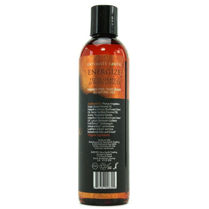 Intimate earth aceite masaje aromaterapia naranja & jenjibre 120ml