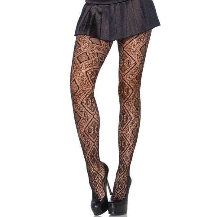 Leg avenue diamondnet medias negro