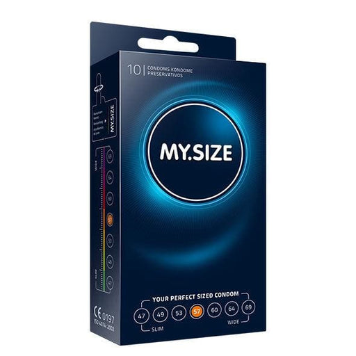 My size natural condom latex 57mm 10uds