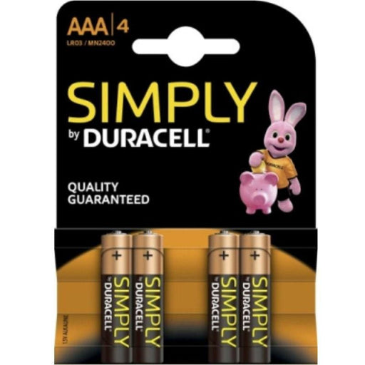 Pila Duracell Simply Alcalina LR03/MN2400 AAA x 4 uds
