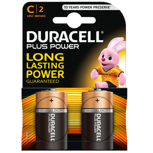 Pilas Duracell Plus Power 2 x C