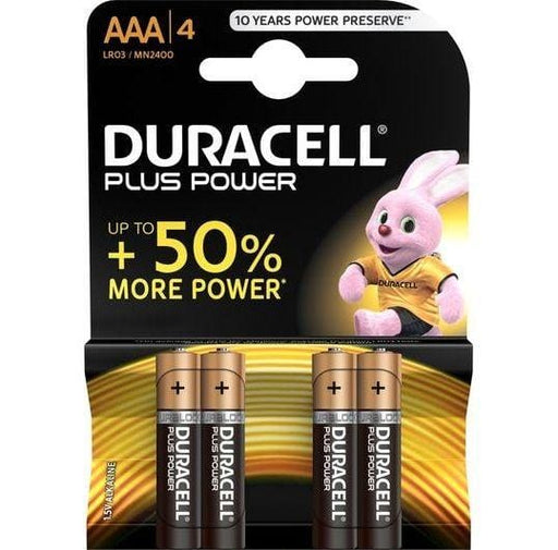 Pilas Duracell Plus Power 4 x AAA