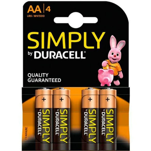 Pilas Duracell Simply 4 x AA