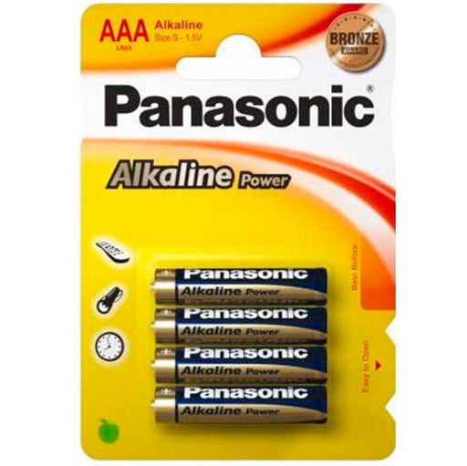 Pilas Panasonic Alkaline Power 4 x AAA