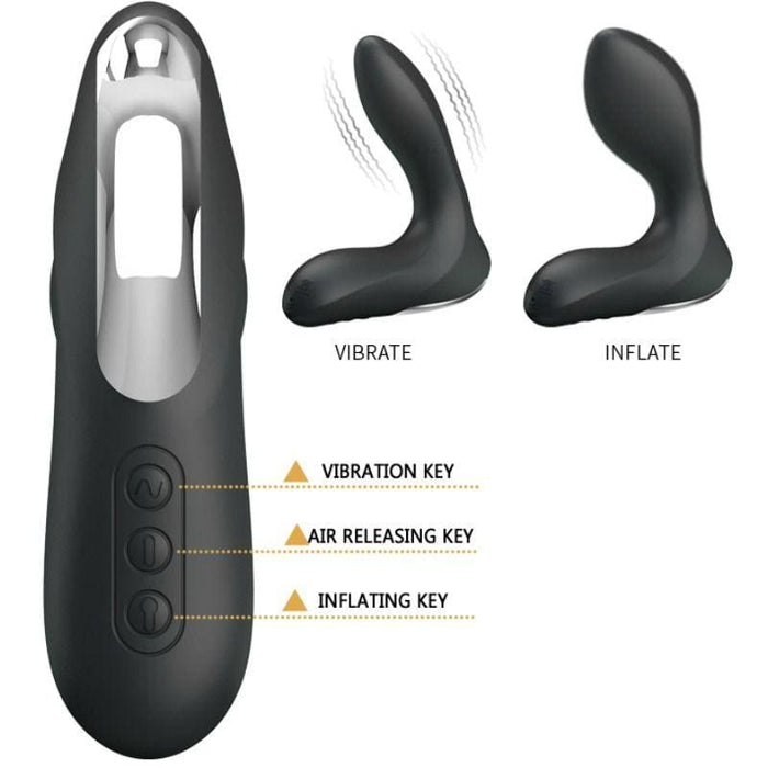 Pretty love bottom - leonard masajeador prostatico inflable con vibracion