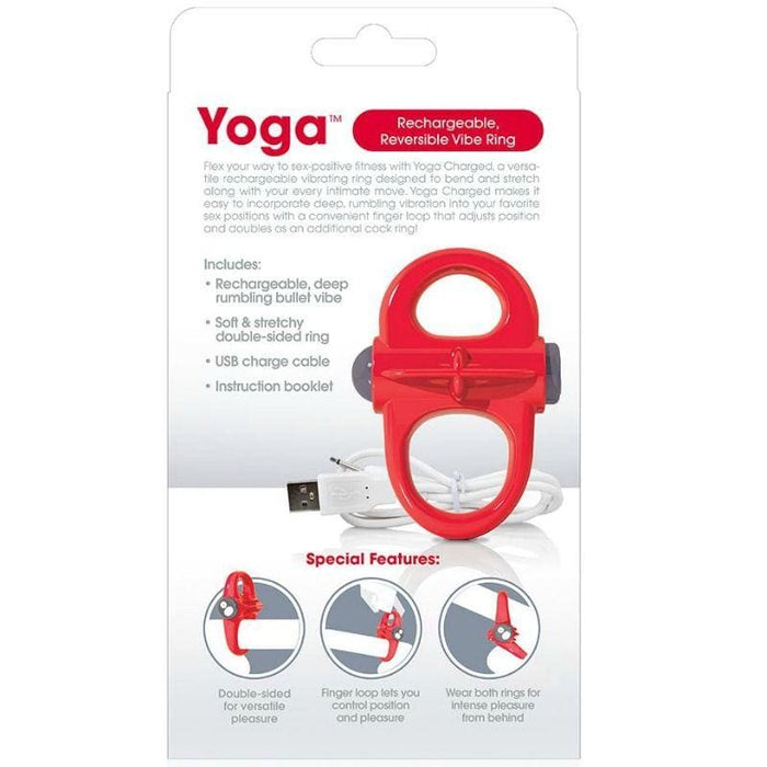 Screaming o anillo vibrador recargable yoga rojo Acuaticos