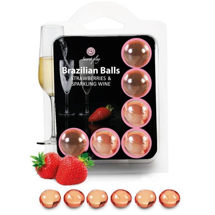 Set 6 Brazilians balls Secret Play fresas con cava