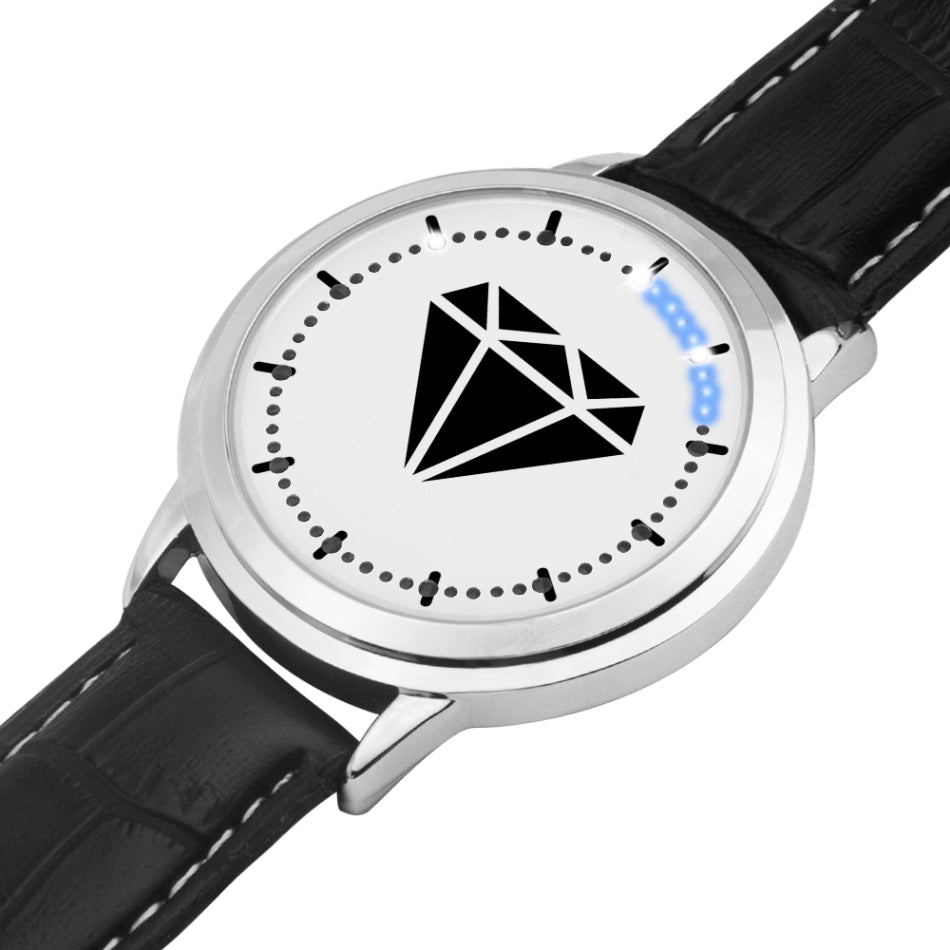 M.T.S. Black Diamond Silver Type Touch-Sreen Water-resistant LED Watch