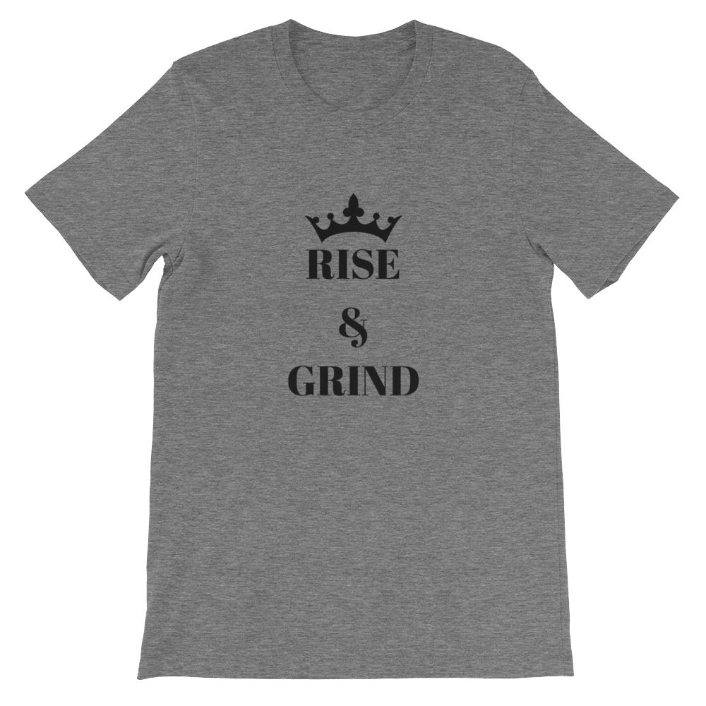 Deep Heather Rise And Grind Motivational Short-Sleeve Unisex T-Shirt
