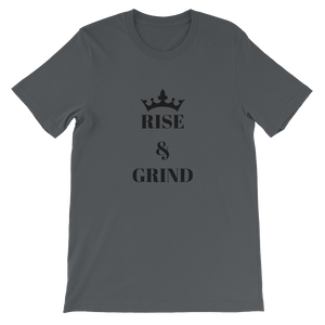 Asphalt Rise And Grind Motivational Short-Sleeve Unisex T-Shirt