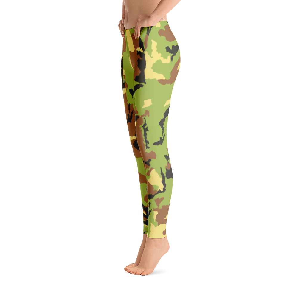 M.T.S. International Premium Quality Soft Comfortable Camo Capri Leggings