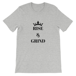 Athletic Heather Rise And Grind Motivational Short-Sleeve Unisex T-Shirt