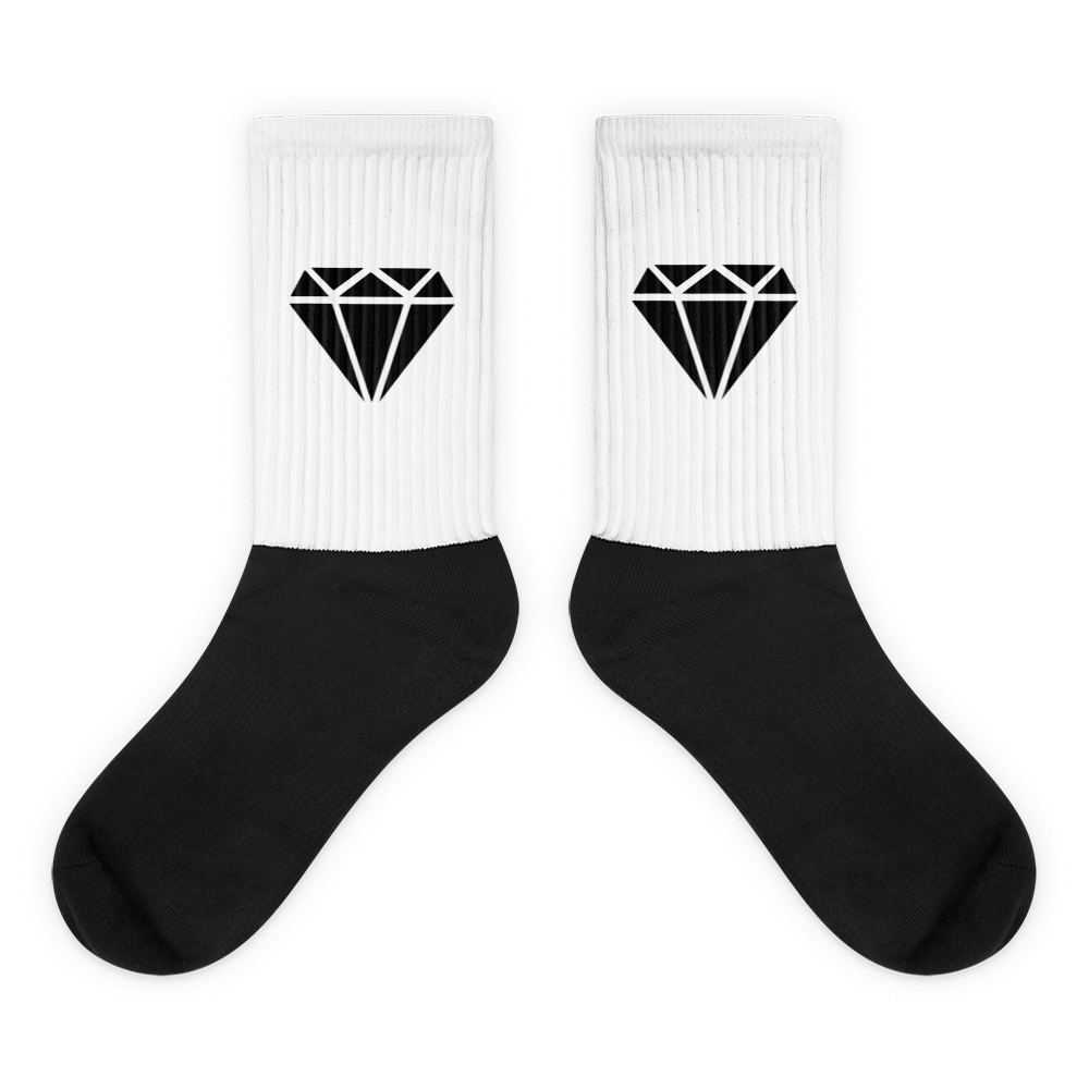 M.T.S. International Black Diamond Logo High-Quality Fashionable Premium Socks