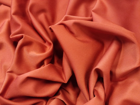 Brændt orange viscose & satin