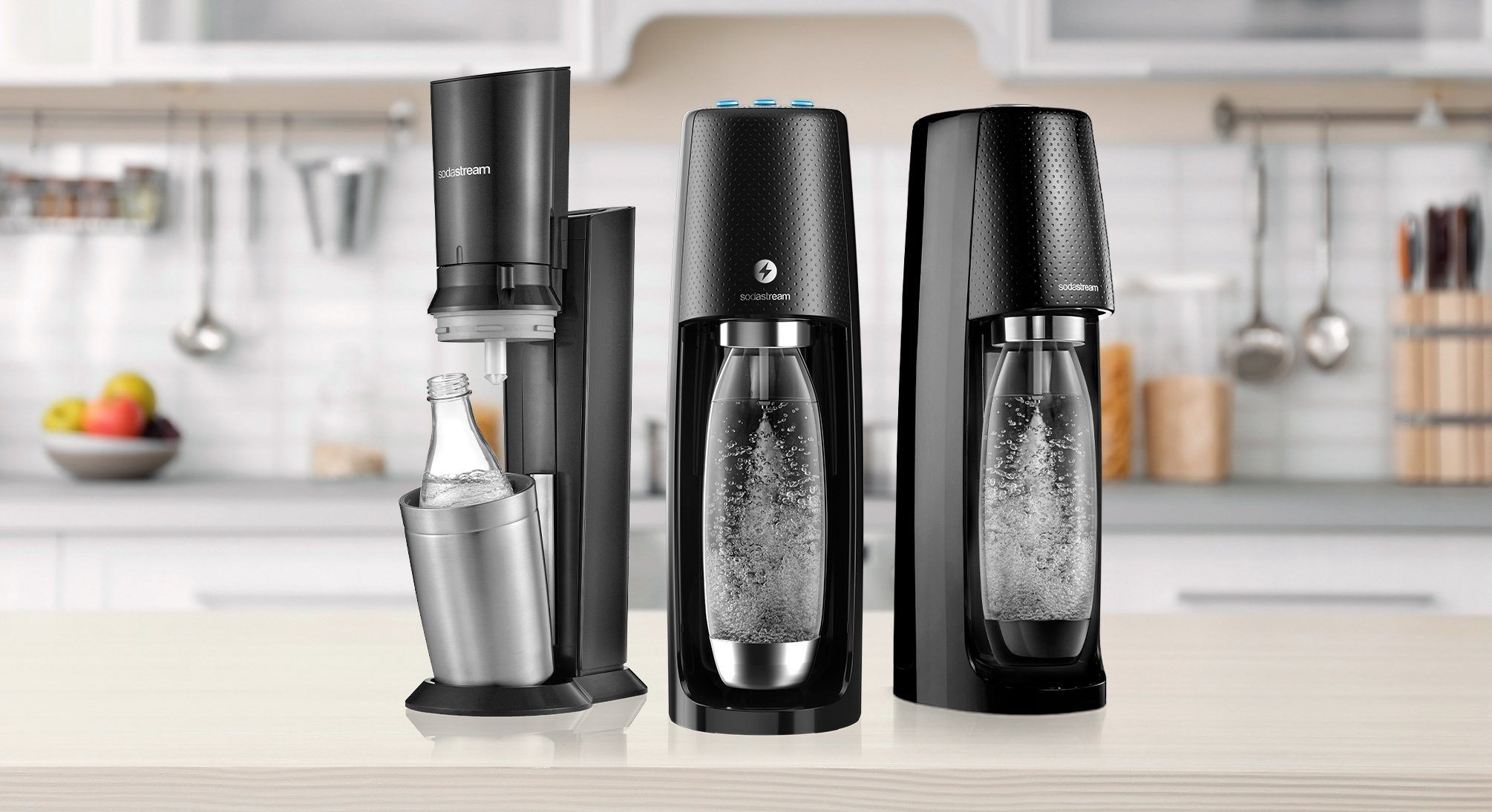 compare sodastream sparkling water maker models