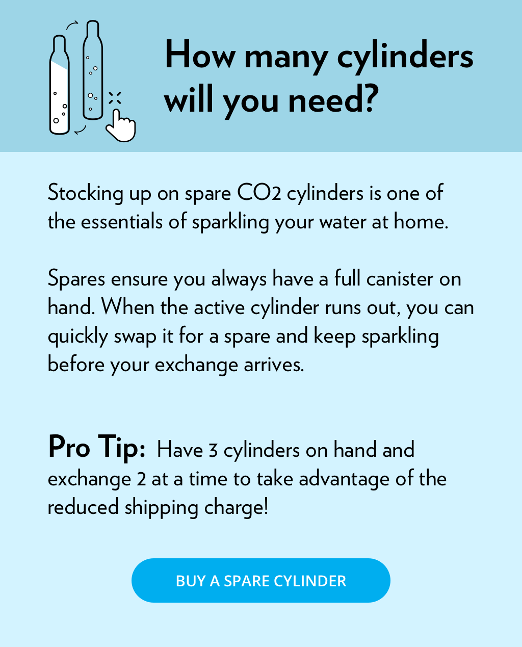 how many CO2 cylinders do you need?