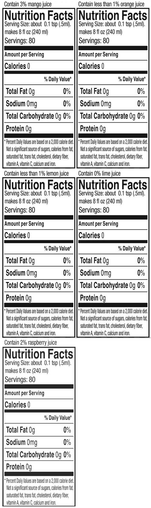 Fruit Drop Variety Pack nutrition facts