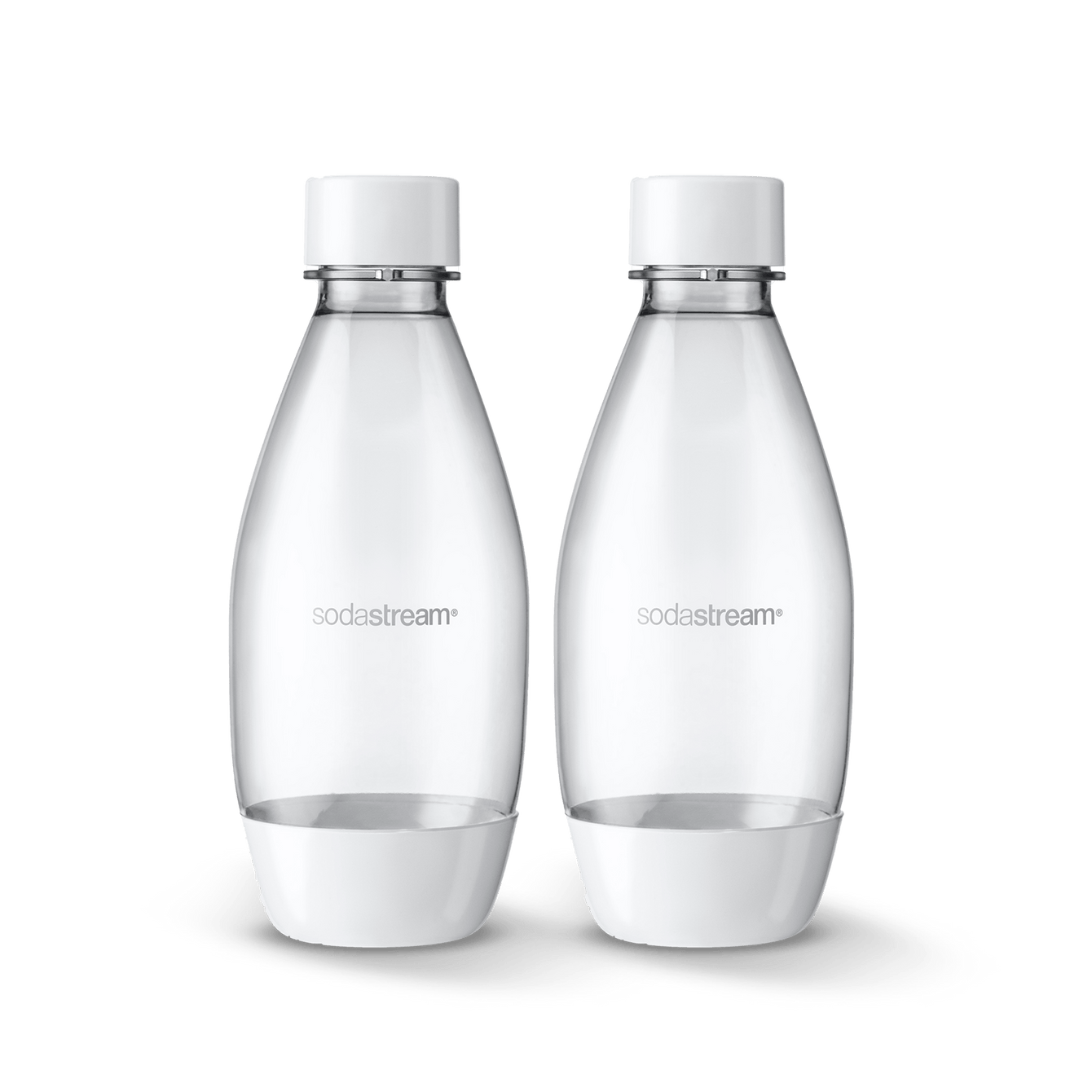 0.5 L White Bottles Twin Pack