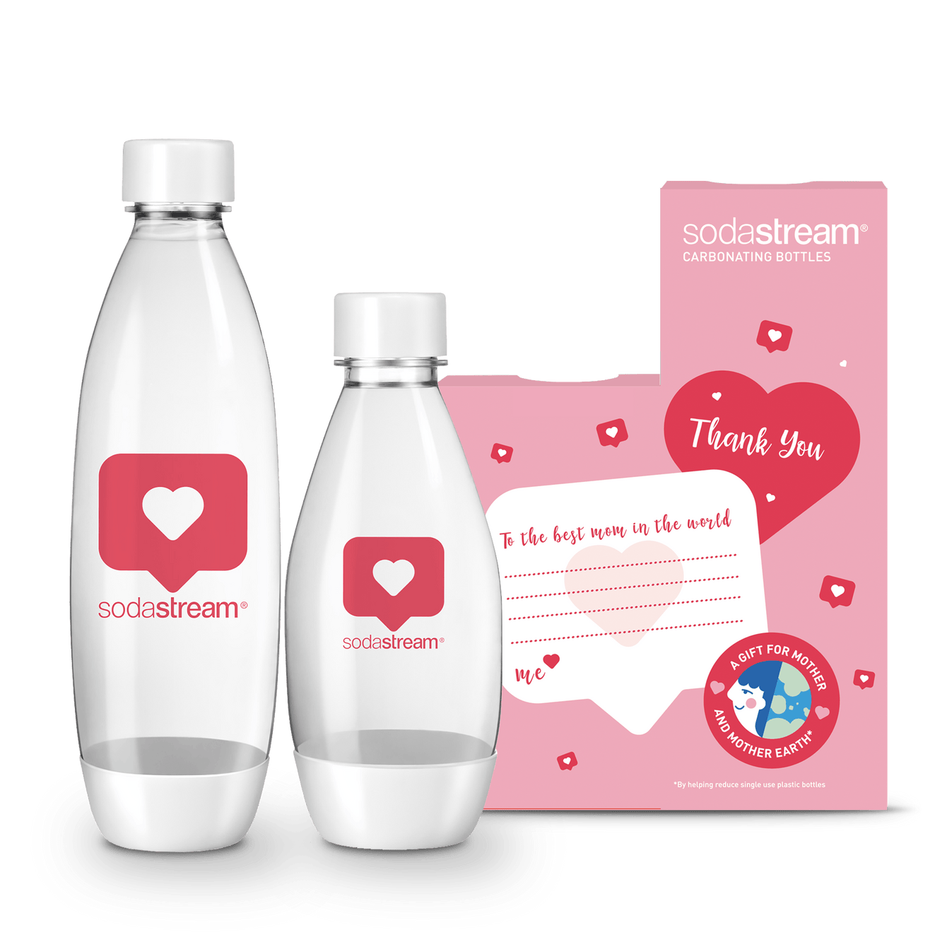 SodaStream Mother's Day Special Edition Carbonating Bottle - Twin Pack