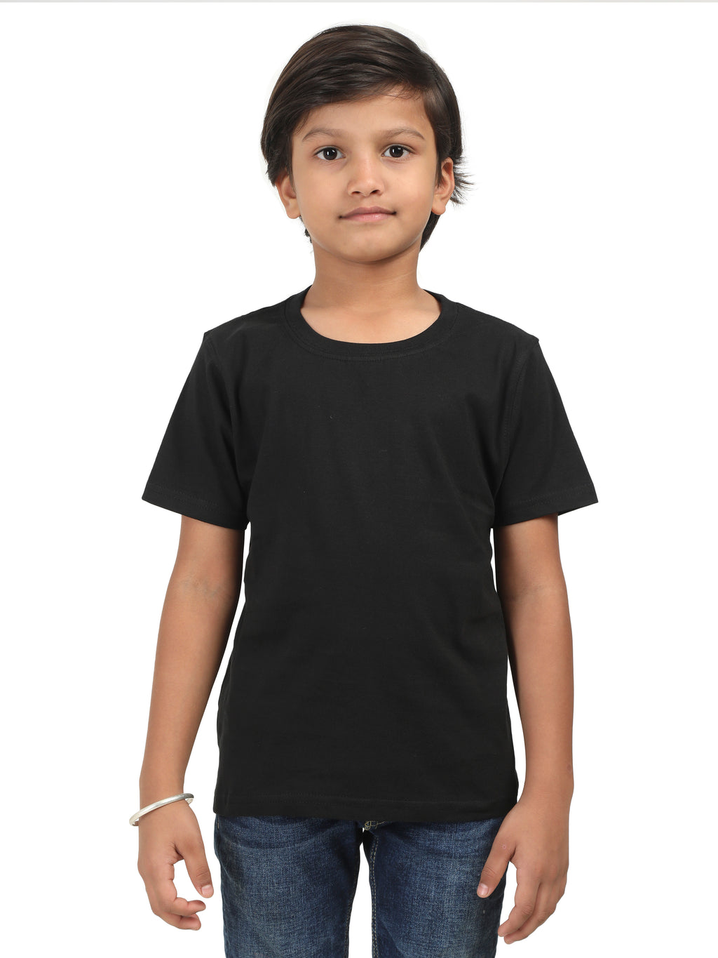 Solids: Plain Black Kids Tshirt