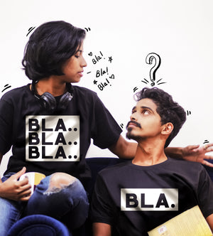 Blah Blah Couple Tshirt