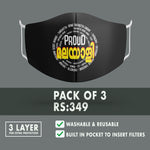 Proud Malayali Premium Printed Mask ( Pack of 3)