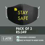 Stay Safe Premium Mask (Pack of 3)