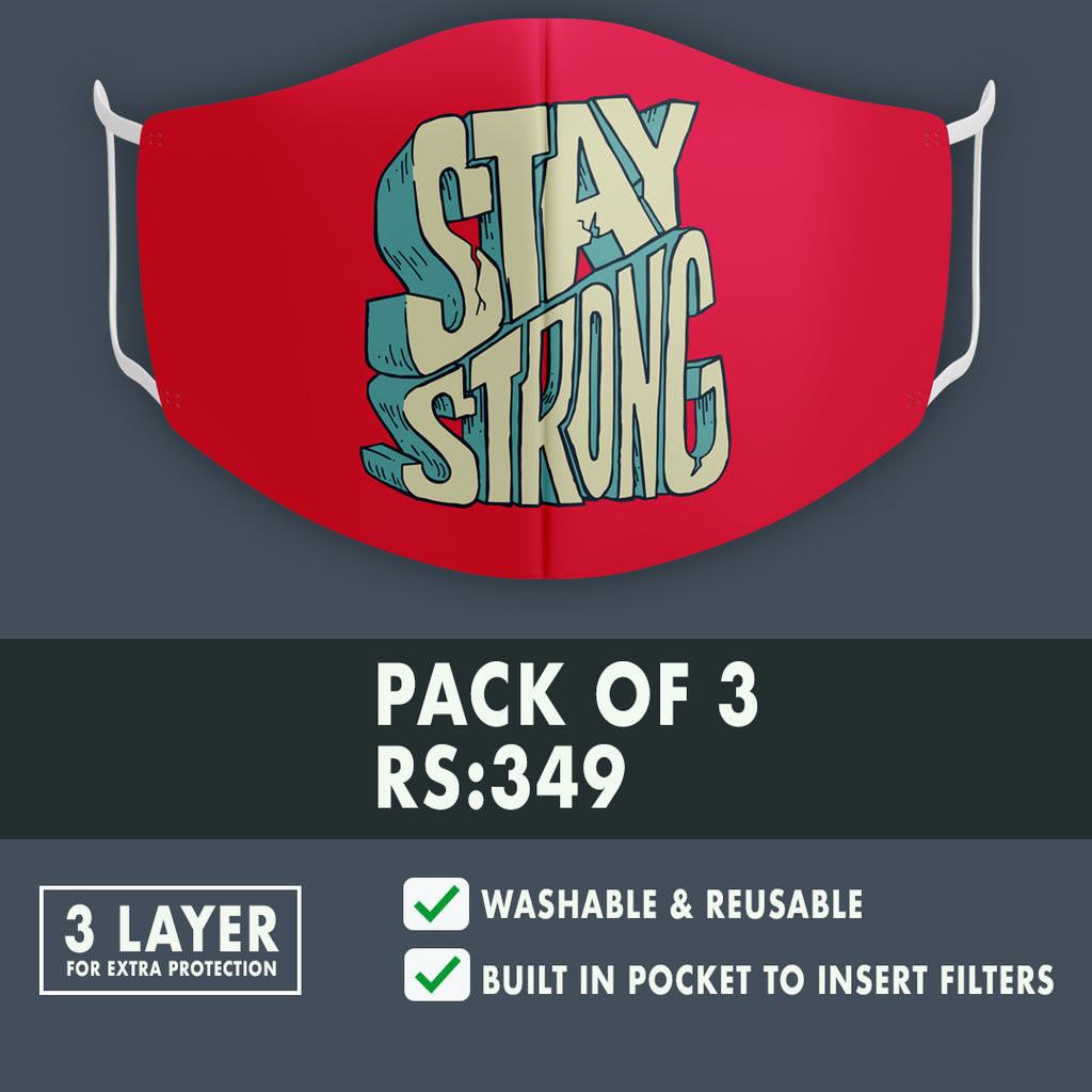 Stay Strong Premium Mask (Pack of 3)