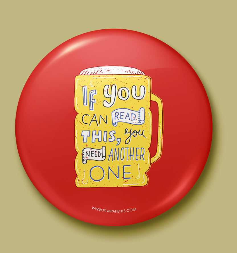 Beer Love Button Badge