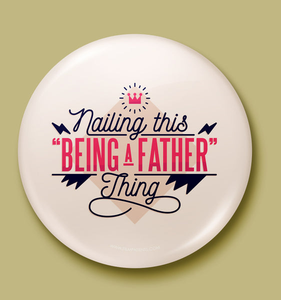 Father Love Button Badge