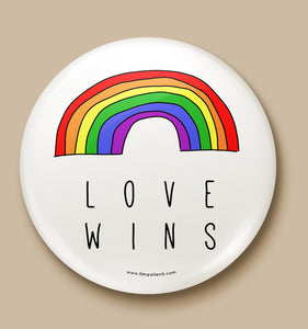 Love Wins Button Badge