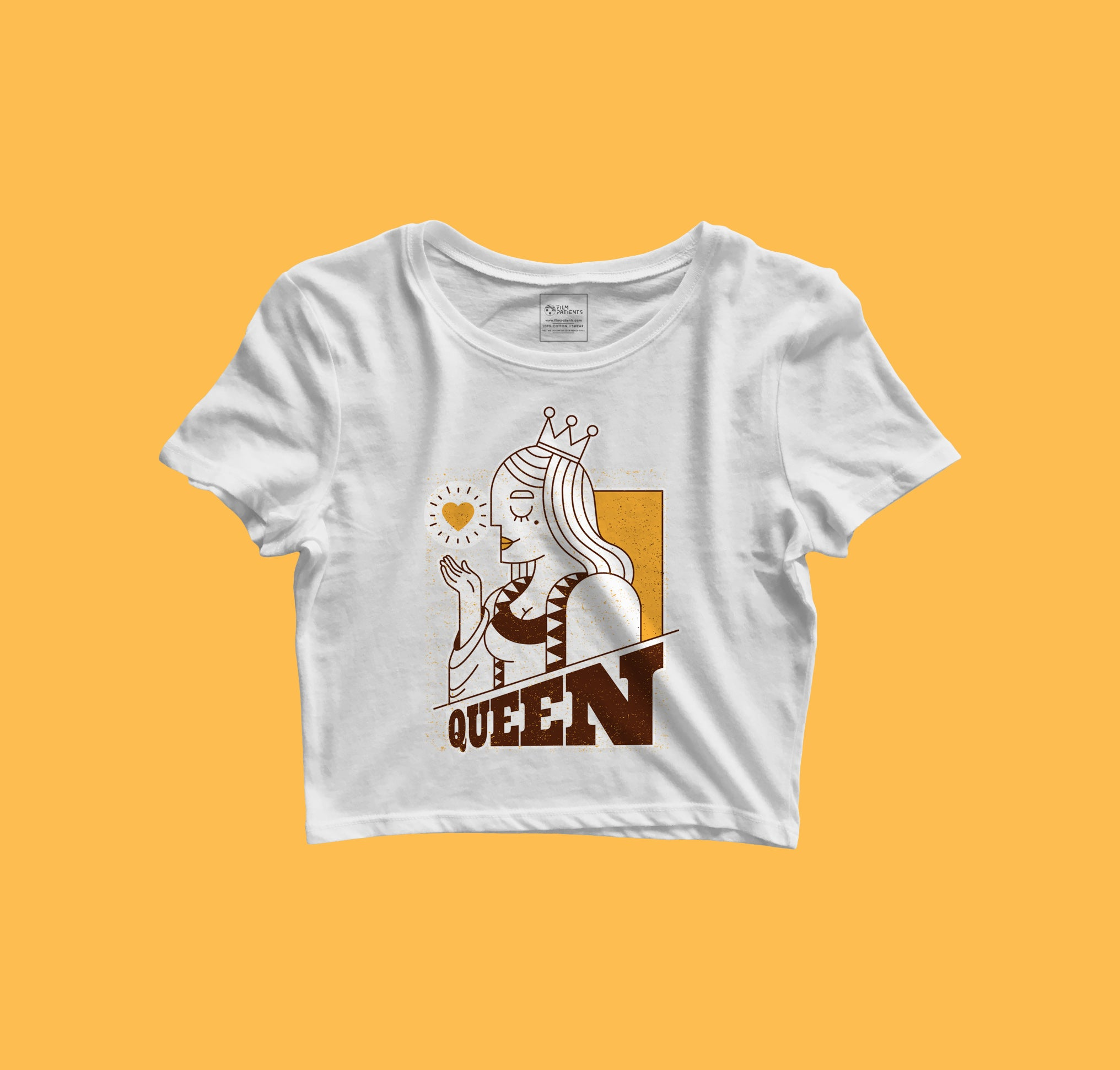 Queen Girl Power Crop Top