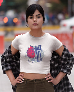 Take MY Heart Classic Crop Top