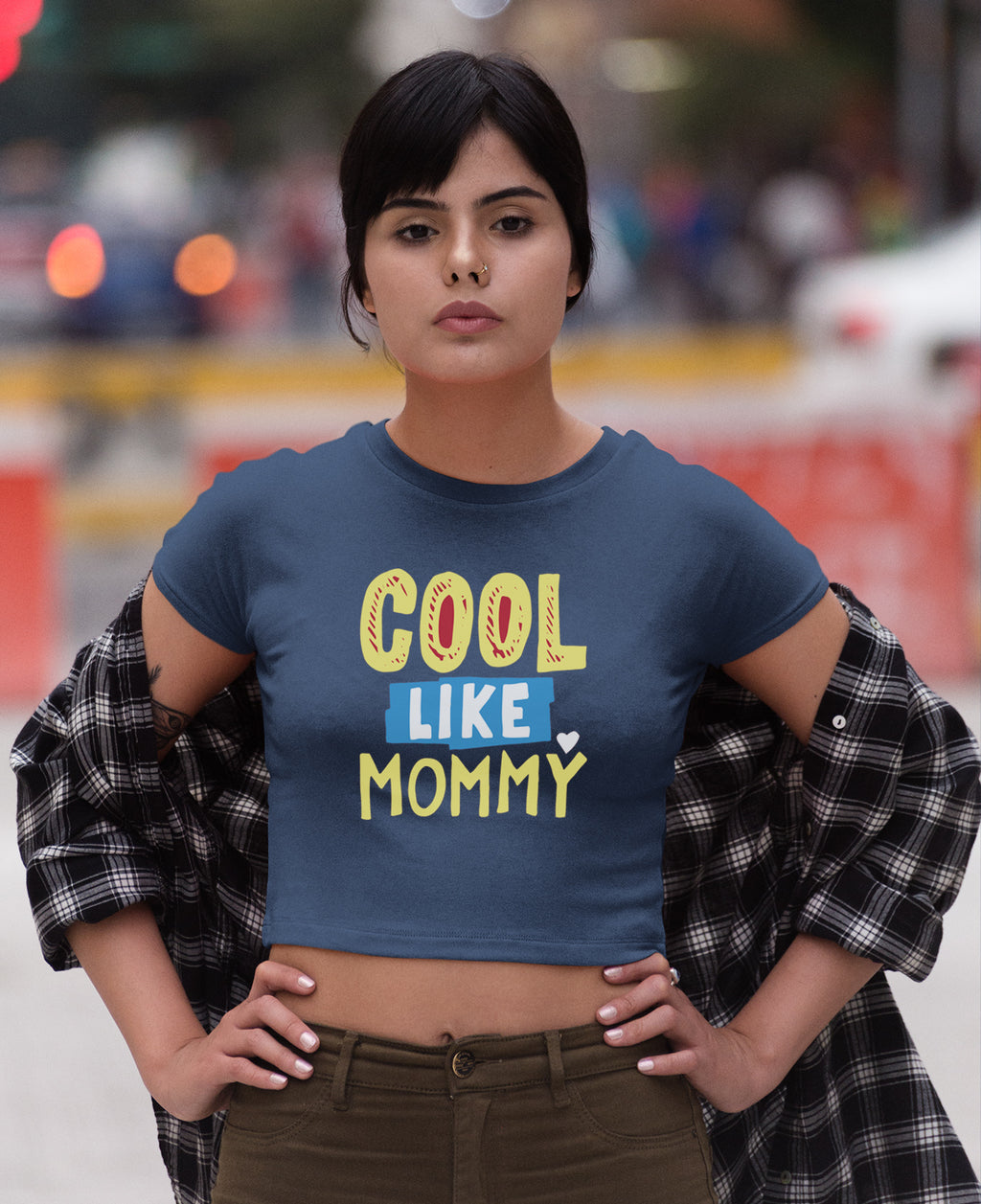 Cool Like Mommy Crop Top