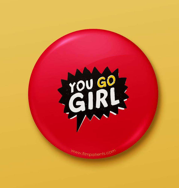 Buy Girl Power Button Badge Online | Film Patients