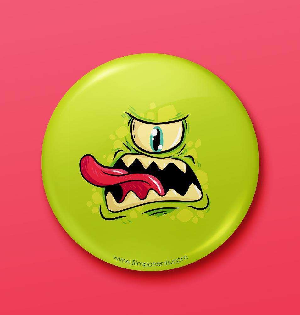Buy One Eyed Monster Button Badge Online | Film patients