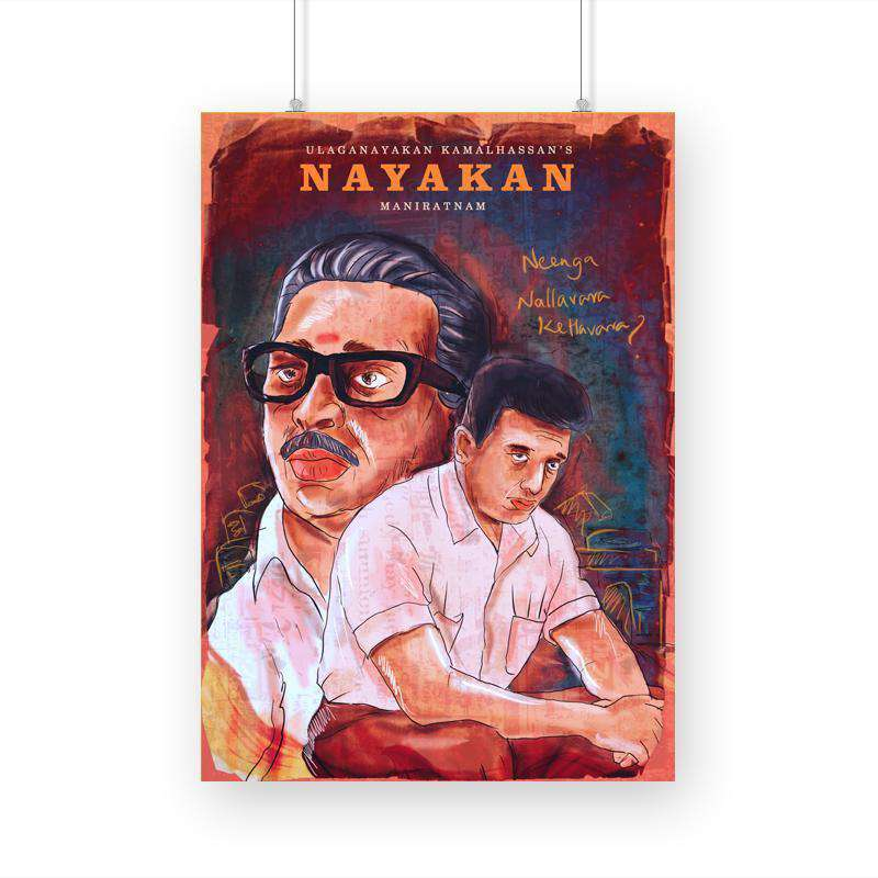 Nayakan Movie A3 Poster