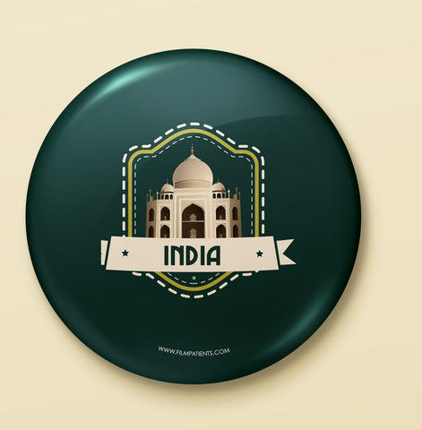 India Button Badge