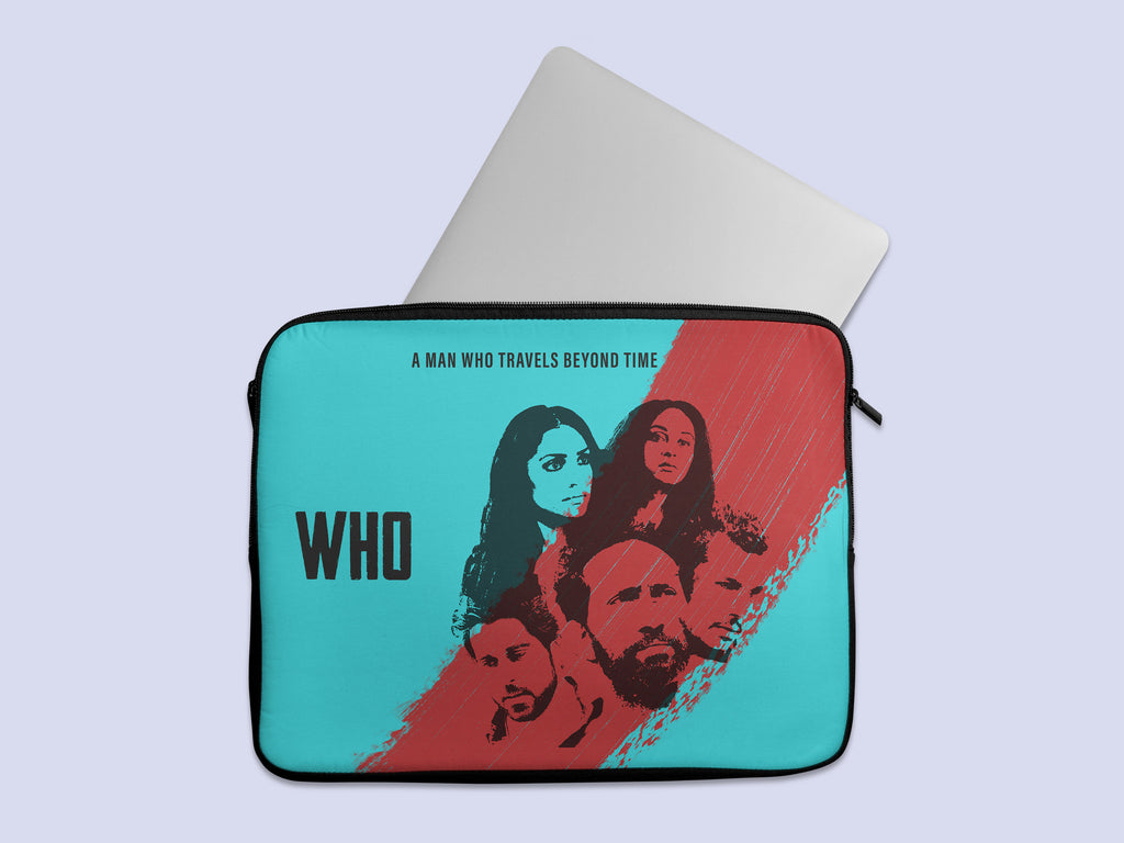 Who Movie Abstract Blue Laptop Sleeve