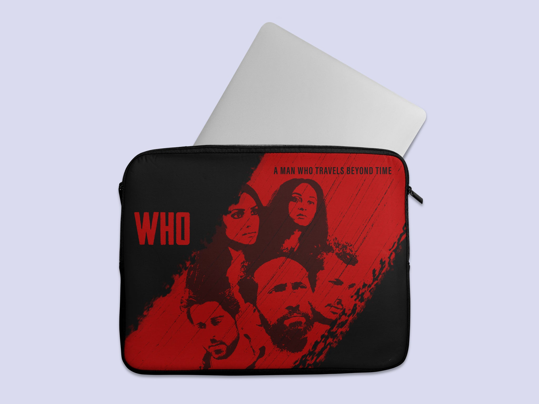 Who Movie Red Abstract Laptop Sleeve