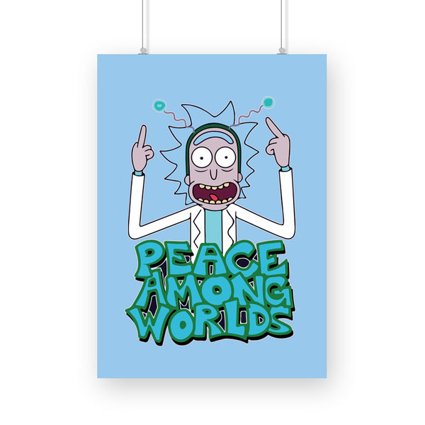 Rick and Morty: Peace Among World A3 Poster