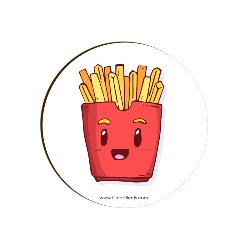 French Fries Cartoon Coaster