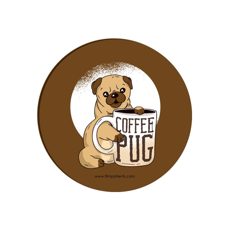 Coffee Pug Coaster