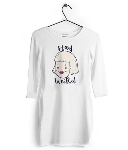 Stay Weird Classic Tshirt Dress