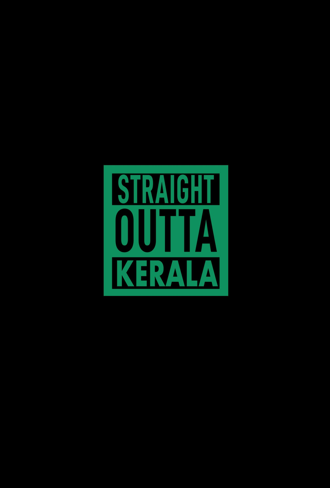 STRAIGHT OUTTA KERALA Unisex T-shirt  for Men/Women | Glow in the Dark