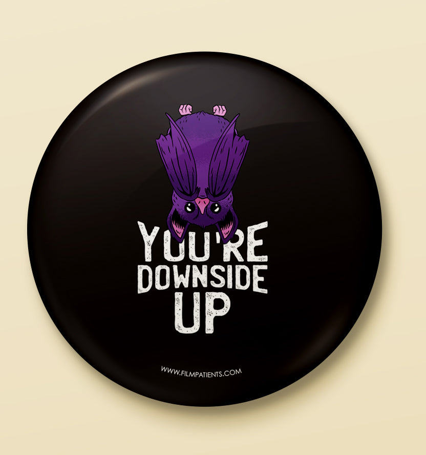Downside Up Button Badge