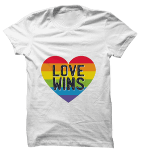 LGBT : Love Wins White Tshirt | Film Patients